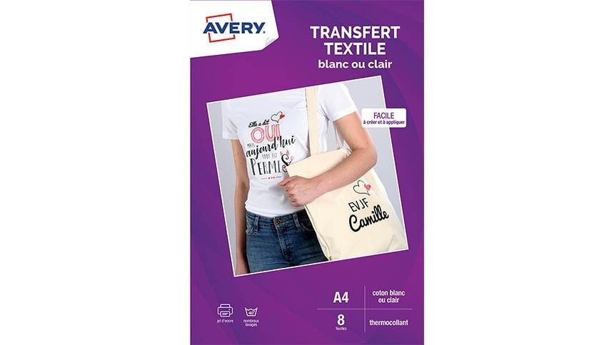 Pack Transfert Textile Blanc