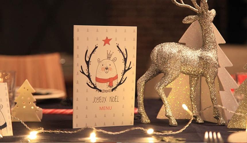 Imprimez vos propres cartes de menus de Noël | Avery
