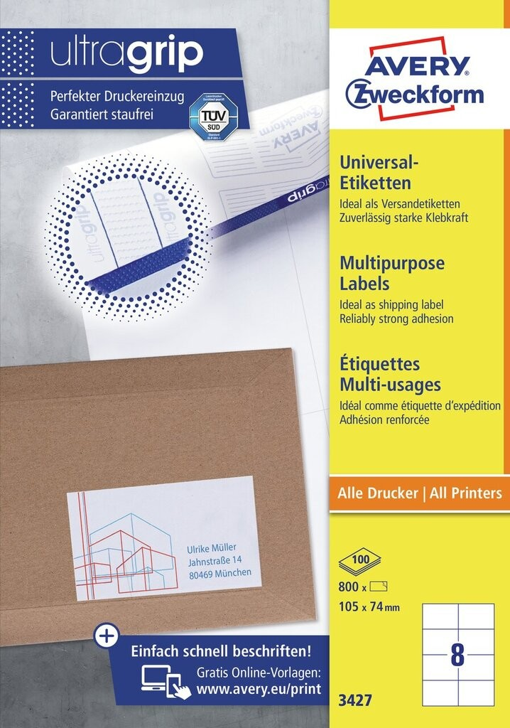 etiquettes multi usages 3427 avery. Black Bedroom Furniture Sets. Home Design Ideas