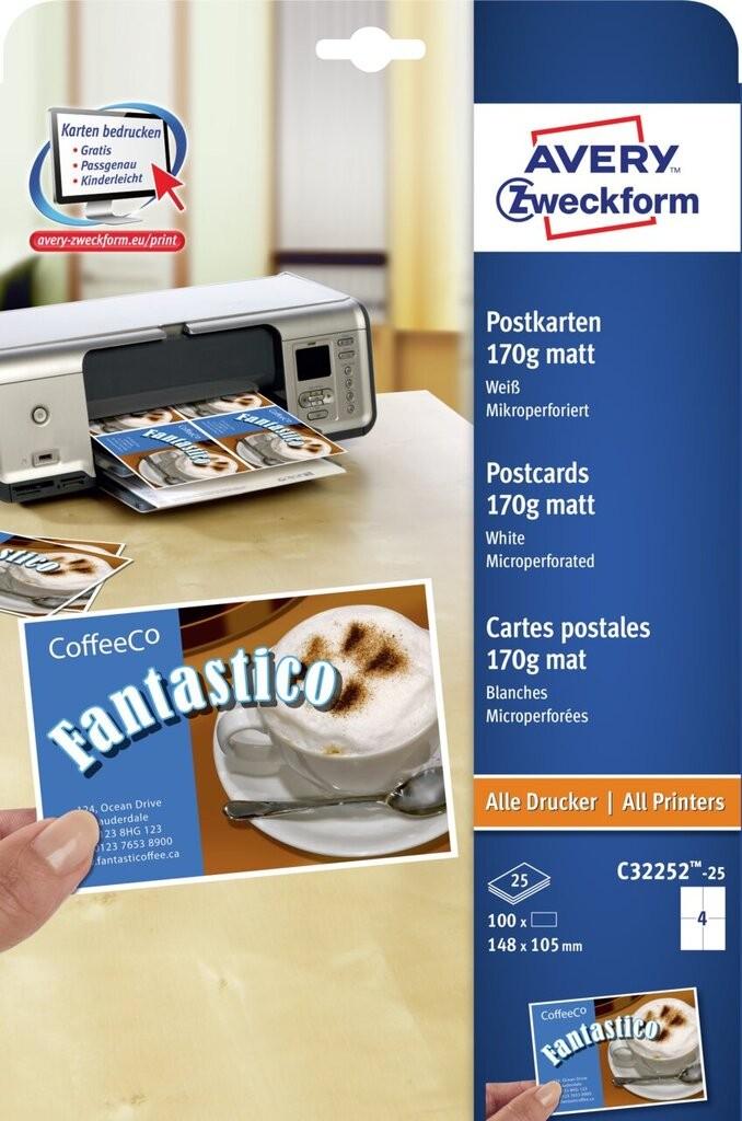Comment imprimer avery cartes postales ?