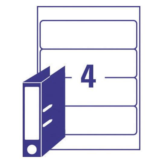 etiquette dos de classeur l4761 25 avery. Black Bedroom Furniture Sets. Home Design Ideas