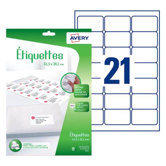 Etiquette Adresse J8160 12