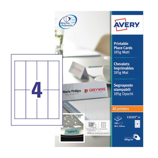 Marque Place Papier A Personnaliser Et A Imprimer Avery